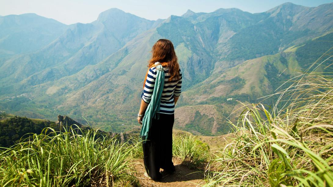 Traveller hikes through the Western Ghats as part of her Discovery Tour in India.